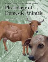 Physiology of Domestic Animals, 3rd edition