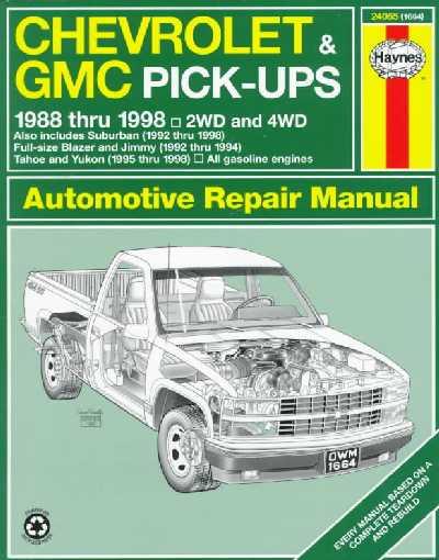 Chevrolet and GMC Pick-ups Automotive Repair