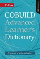 Collins COBUILD Advanced Learner's Dictionary 8th Revised edition