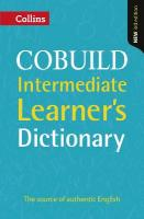 Collins COBUILD Intermediate Learner's Dictionary 3rd Revised edition