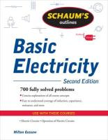 Schaum's Outline of Basic Electricity, Second Edition