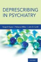 Deprescribing in Psychiatry
