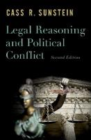Legal Reasoning and Political Conflict 2nd Revised edition