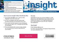 insight: Pre-Intermediate: Online Workbook Plus - Card with Access Code