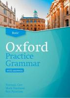 Oxford Practice Grammar: Basic: with Key: The right balance of English grammar explanation and practice for your   language level Updated Edition