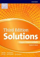 Solutions: Upper Intermediate: Student's Book: Leading the way to success 3rd Revised edition