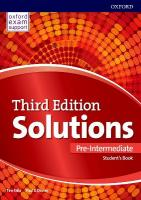 Solutions: Pre-Intermediate: Student's Book: Leading the way to success 3rd Revised edition