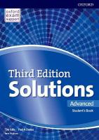 Solutions: Advanced: Student's Book 3rd Revised edition