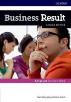 Business Result: Advanced: Teacher's Book and DVD: Business English you can take to work <em>today</em> 2nd Revised edition