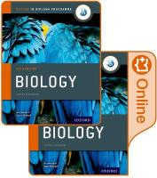 IB Biology Print and Online Course Book Pack: Oxford IB Diploma Programme: Oxford Ib Diploma Program 2014 Edition