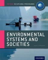 Ib Environmental Systems and Societies Course Book: Oxford Ib Diploma   Programme: For the Ib Diploma