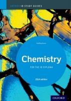 Chemistry Study Guide: Oxford IB Diploma Programme 2014 2014 Edition