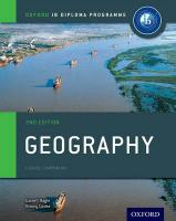 Oxford IB Diploma Programme: Geography Course Companion 2nd Revised edition