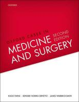 Oxford Cases in Medicine and Surgery 2nd Revised edition