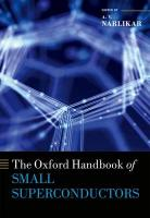 Oxford Handbook of Small Superconductors