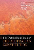 Oxford Handbook of the Australian Constitution