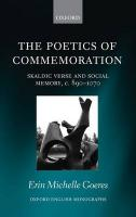 Poetics of Commemoration: Skaldic Verse and Social Memory, c. 890-1070