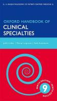 Oxford Handbook of Clinical Specialties 9th Revised edition