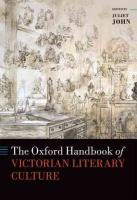 Oxford Handbook of Victorian Literary Culture