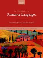 Oxford Guide to the Romance Languages