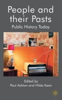 People and their Pasts: Public History Today First