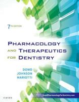 Pharmacology and Therapeutics for Dentistry 7th Revised edition