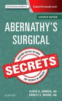Abernathy's Surgical Secrets 7th Revised edition
