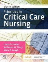 Priorities in Critical Care Nursing 8th Revised edition