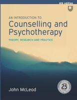Introduction to Counselling and Psychotherapy:Theory, research and practice: Theory, research and practice 6th edition
