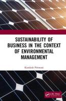 Sustainability of Business in the Context of Environmental Management
