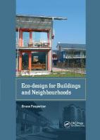 Eco-design for Buildings and Neighbourhoods