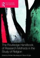 Routledge Handbook of Research Methods in the Study of Religion