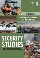 Security Studies: An Introduction 3rd New edition