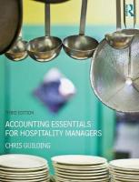 Accounting Essentials for Hospitality Managers 3rd New edition