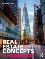 Real Estate Concepts: A Handbook