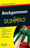 Backgammon For Dummies illustrated edition