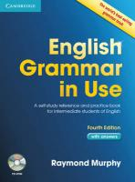 English Grammar in Use with Answers and CD-ROM: A Self-study Reference and Practice Book for Intermediate Learners of English 4th Revised edition