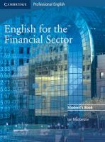 English for the Financial Sector Student's Book Student edition