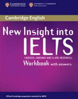 New Insight into IELTS Workbook with Answers illustrated edition