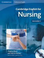Cambridge English for Nursing Intermediate Plus Student's Book with Audio   CDs (2) illustrated edition