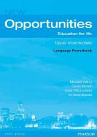 Opportunities Global Upper-Intermediate Language Powerbook NE 2nd edition, Opportunities Global Upper-Intermediate Language Powerbook NE Global   Upper-intermediate Language Powerbook