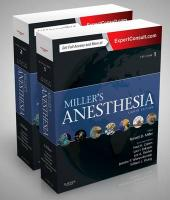 Miller's Anesthesia, 2-Volume Set 8th Revised edition