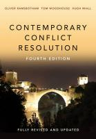 Contemporary Conflict Resolution 4th Edition