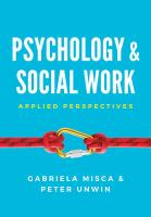 Psychology and Social Work - Applied Perspectives: Applied Perspectives