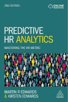 Predictive HR Analytics: Mastering the HR Metric 2nd Revised edition