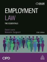 Employment Law: The Essentials 15th Revised edition
