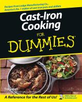 Cast Iron Cooking For Dummies Uncensored/ / ed.