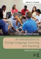 Introduction to Foreign Language Learning and Teaching 3rd New edition