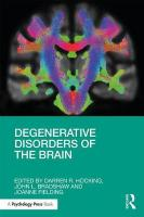 Degenerative Disorders of the Brain