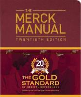 Merck Manual of Diagnosis and Therapy 20th Edition
